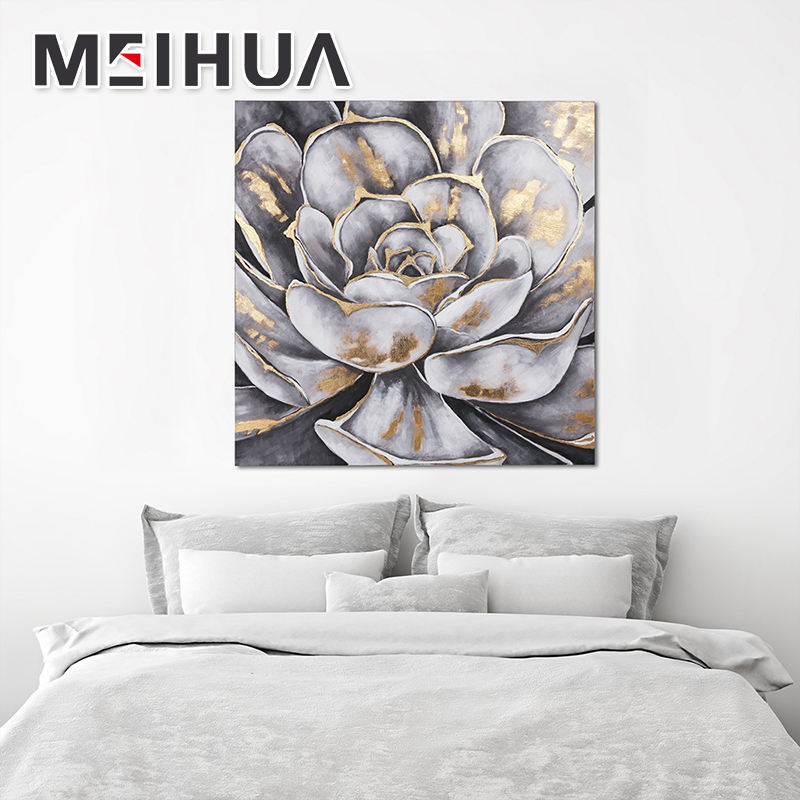 China Supply Beautiful flower oil paintings canvas