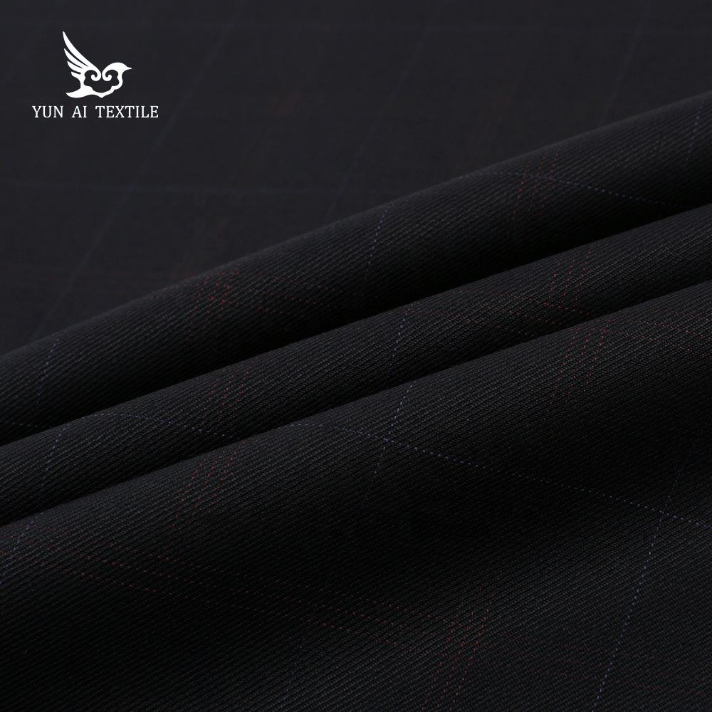 Wool Fabric High Quality Plain Wool Poly Blend Italian Plain Solid Wool Suit Fabric