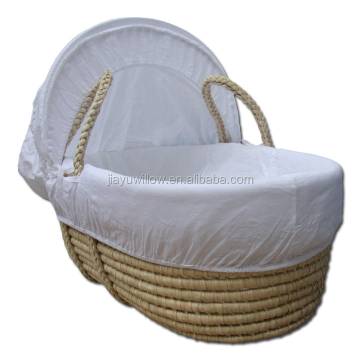 larger willow wicker baby baskets with handle