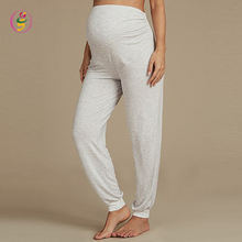 Maternity Cuffed Hem Pyjama Bottoms ankle length Elastic waist pants for pregnant wholesale maternity clothes