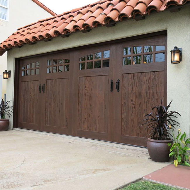 Wholesale sliding solid wood garage door for residential