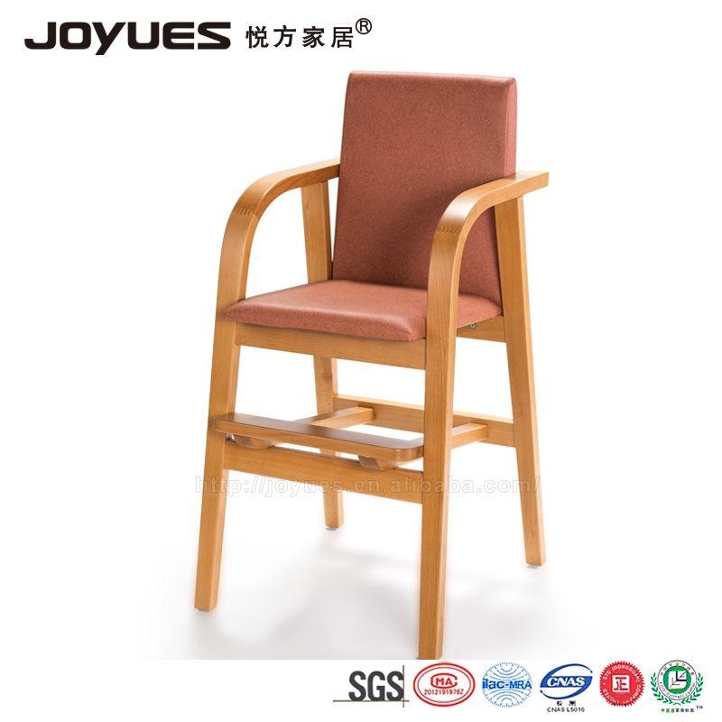 Cadeira alta criança de madeira da malásia, crianças do bebê de madeira cadeira de jantar para o restaurante