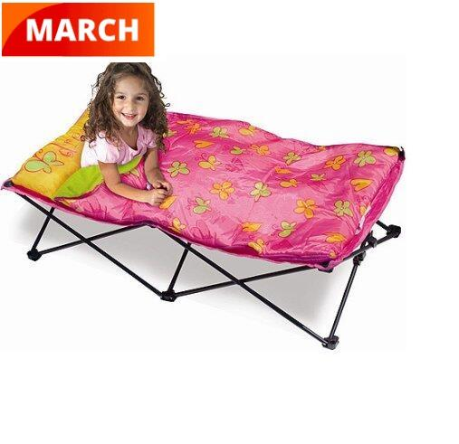 New technology Portable Folding Travel Bed children Camping Cot bed kids Outdoor Bed with Travel Bag
