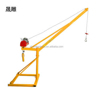Building Material Lifting Machine Small Mini 4 Pillar Sliding Pulley Wire Rope Pulling Hoist