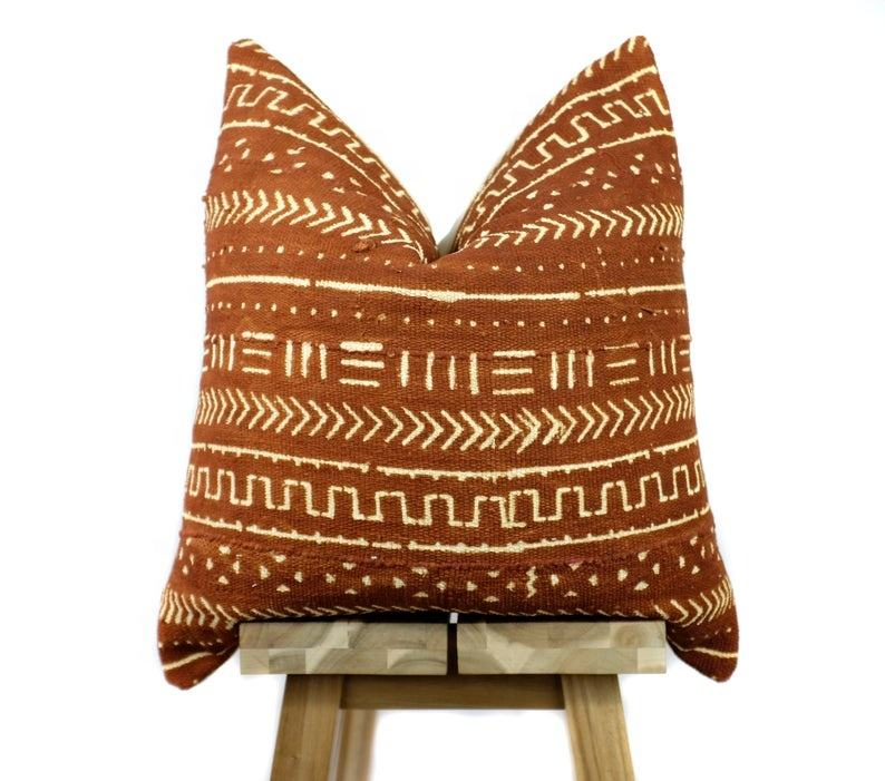 Wholesale Custom African Brown Mud Cloth Pillow Cover