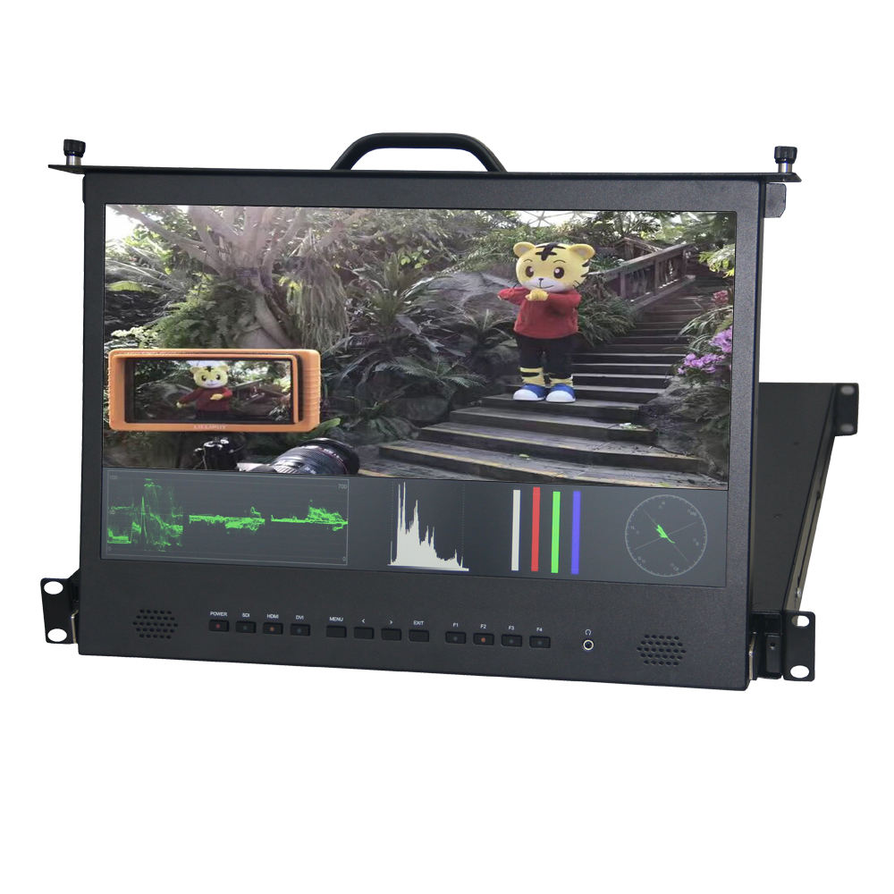 Lilliput RM-1730S 300cd/m2 hoge helderheid 17.3 inch rack mount frame industriële lcd monitor