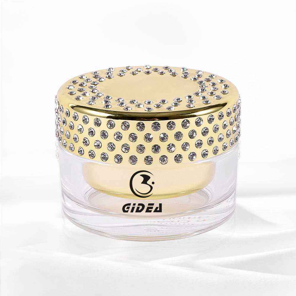 100g Electroplated Bright Gold Diamond Cosmetic Cream Jars Short Delivery Time