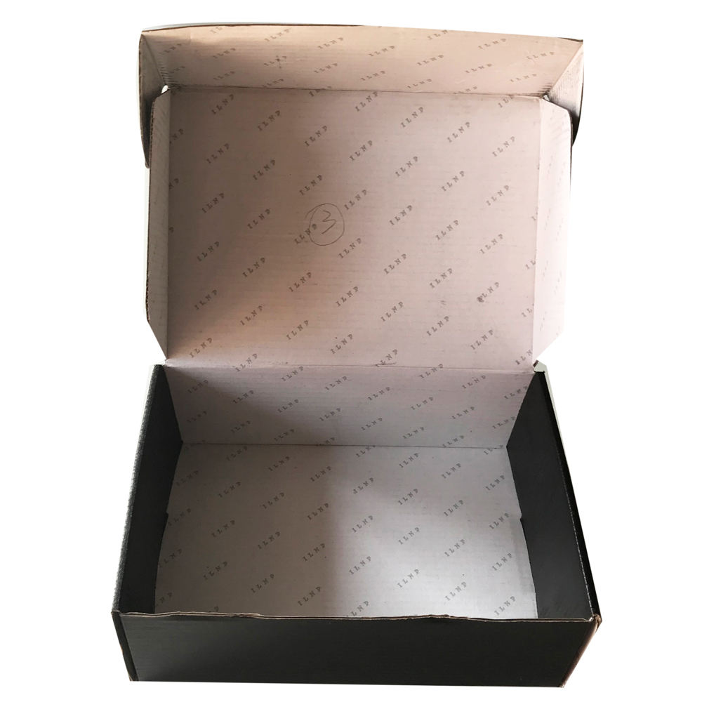 Cake box packaging paper child resistant box corrugated price list black shipping box with logo