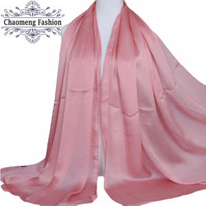 ZS23# Cheap wholesale Latest islamic abaya wholesale clothes 100% silk hijabs scarfs 2018 muslim