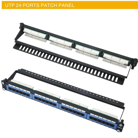 UTP 24 PORTS PATCH PANEL CAT5E CAT6 UTP 24 PORTS PATCH PANEL manufacturer