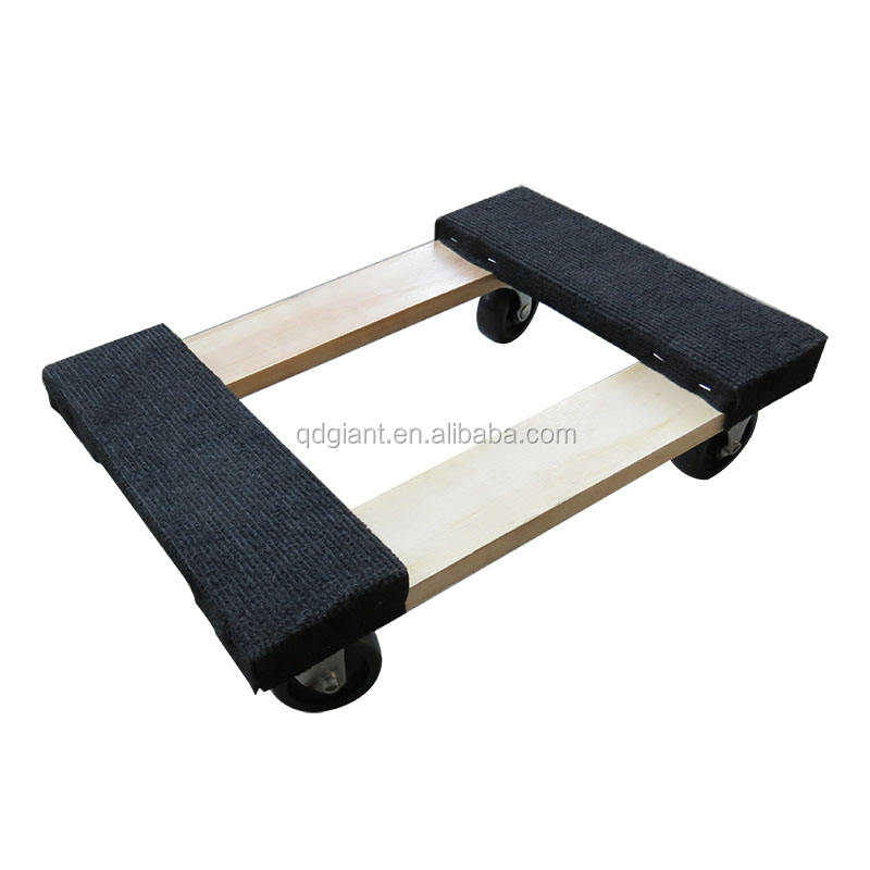 "1000lb capacity 12""x18"" moving wood dolly"