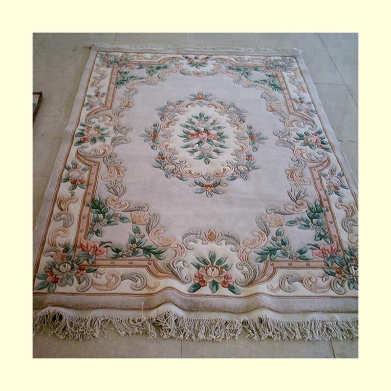 Luxury hand knotted chinese aubusson wool rugs for home villas hotel bed room living room