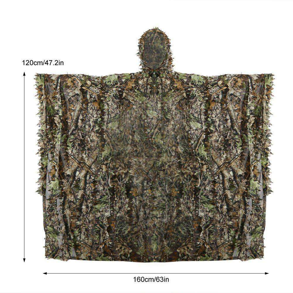 PAINTBALL suit Hunting 3D Leaf Camouflage Clothing Camo Sniper Archery Ghillie Suit blind cover Jacket Pants Set
