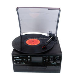 Professional retro vintage 3 speed lp player with vinyl recording ,build -in speaker