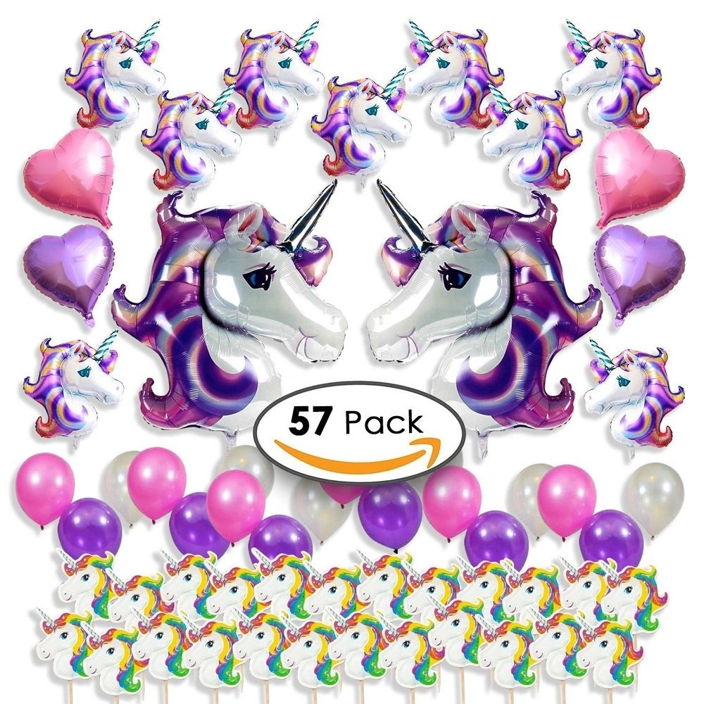 Balloons Party Decorations, Favors for Girls & Kids Birthday, Baby Shower Heart Shaped Foil Balloons Helium