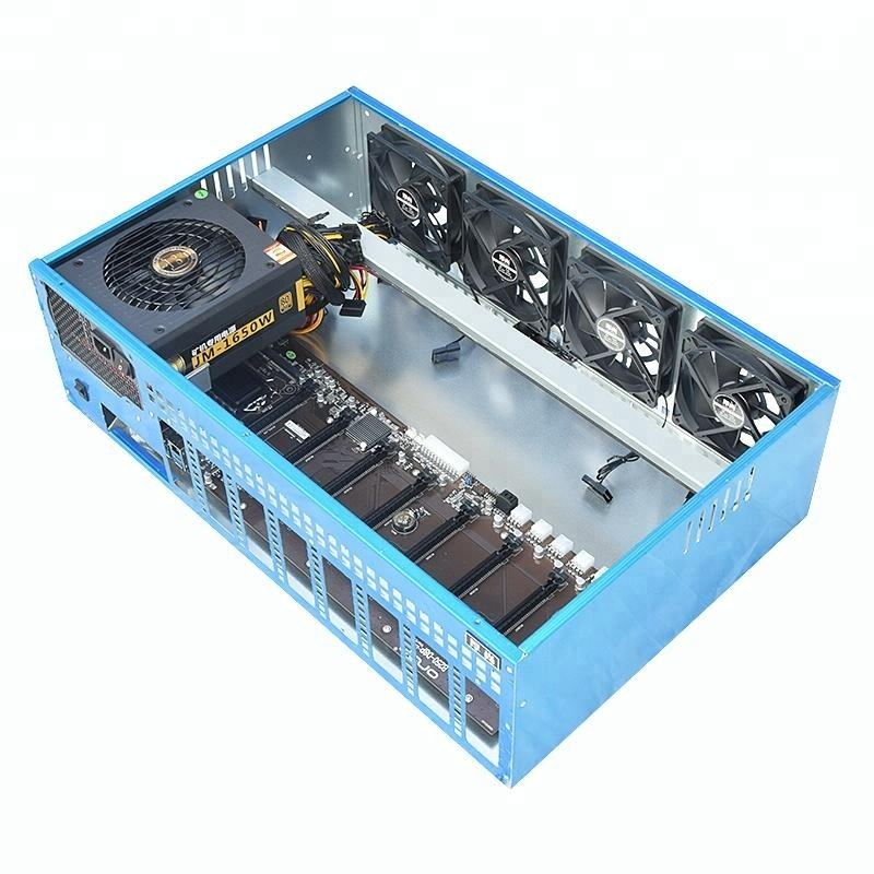 New Cheap Ethereum Crypto GPU Mining Rig Machine With Server Case Power Supply Graphic Card Fan 8 PCIE Motherboard OEM GPU Miner