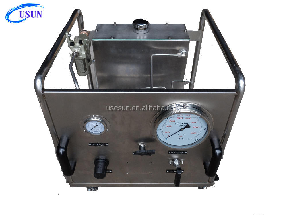 Portable USUN Model:US-AT300 Stainless steel High pressure pneumatic driven water pump stand for water jetting machine