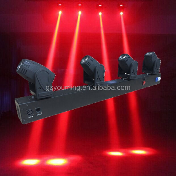 4 개 * 10 와트 RGBW 4in1 mini 빔 led moving head 등