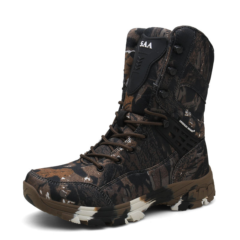 Big size 39-47 military training camouflage safety hiking outdoor men digital woodland mountaineering army boots desert shoes
