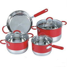 Hot sale Stainless steel Colorful Soup pots for kitchen accessories set