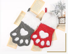 Dog paw Christmas stockings