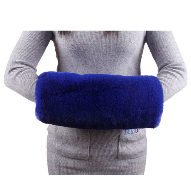 Vintage Style Lady Blue Winter Girls Faux Fur Hand Warmer Muffs