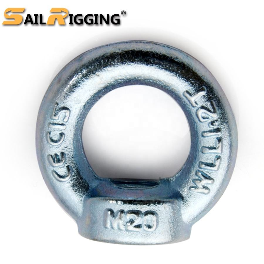 C15 Carbon Steel Forged Galvanized M16 Din 582 Ring Nut Din582 Anchor Lifting Eye Nuts