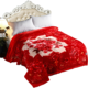 Hot selling beautiful polyester fabric coral fleece blanket for winter
