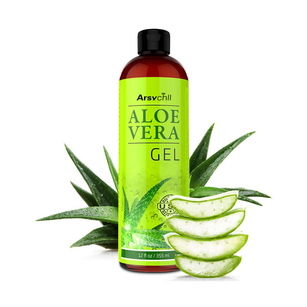 Organic Aloe Vera Oil for Hair, Face and Skin Super Effective for Hair Growth