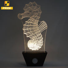 led decoration light Christmas gift, 3D table lamp decoration light