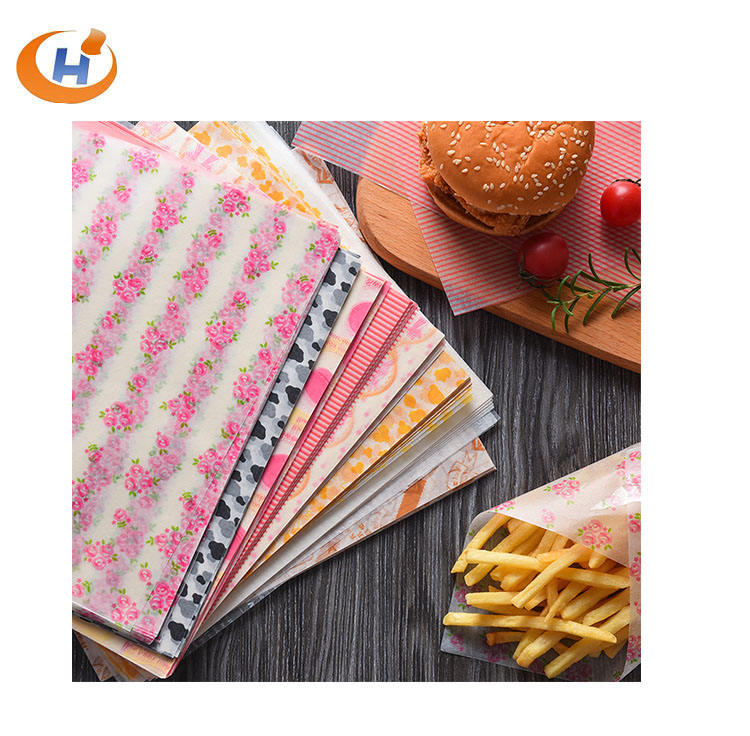 Custom printed wax coated paper for food candy wrapping