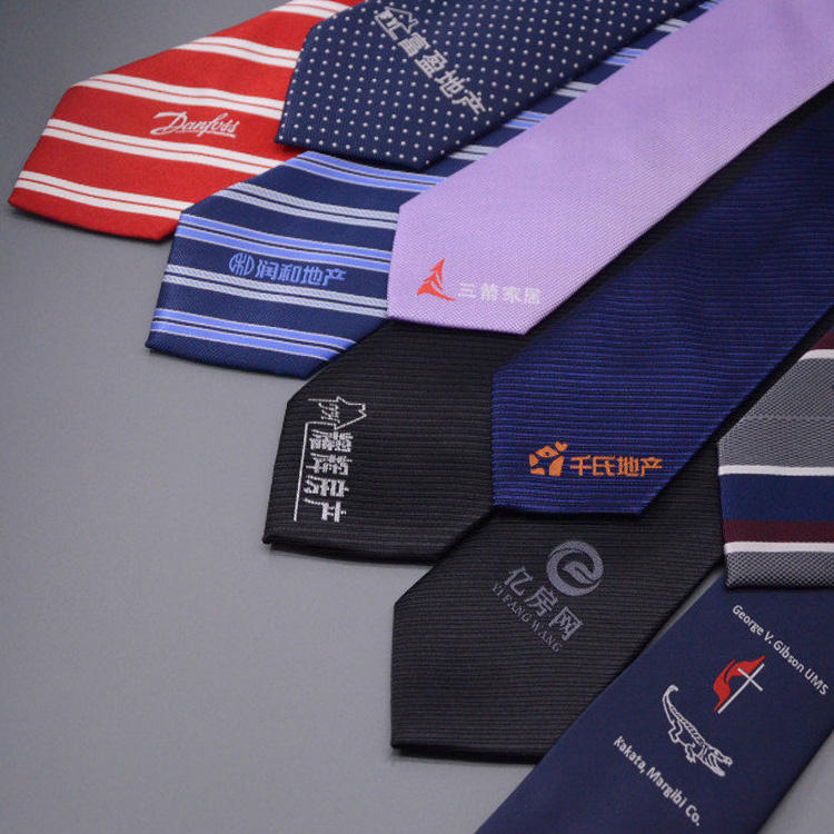 Low MOQ OEM Tie Support Custom Design Necktie With Your Logo