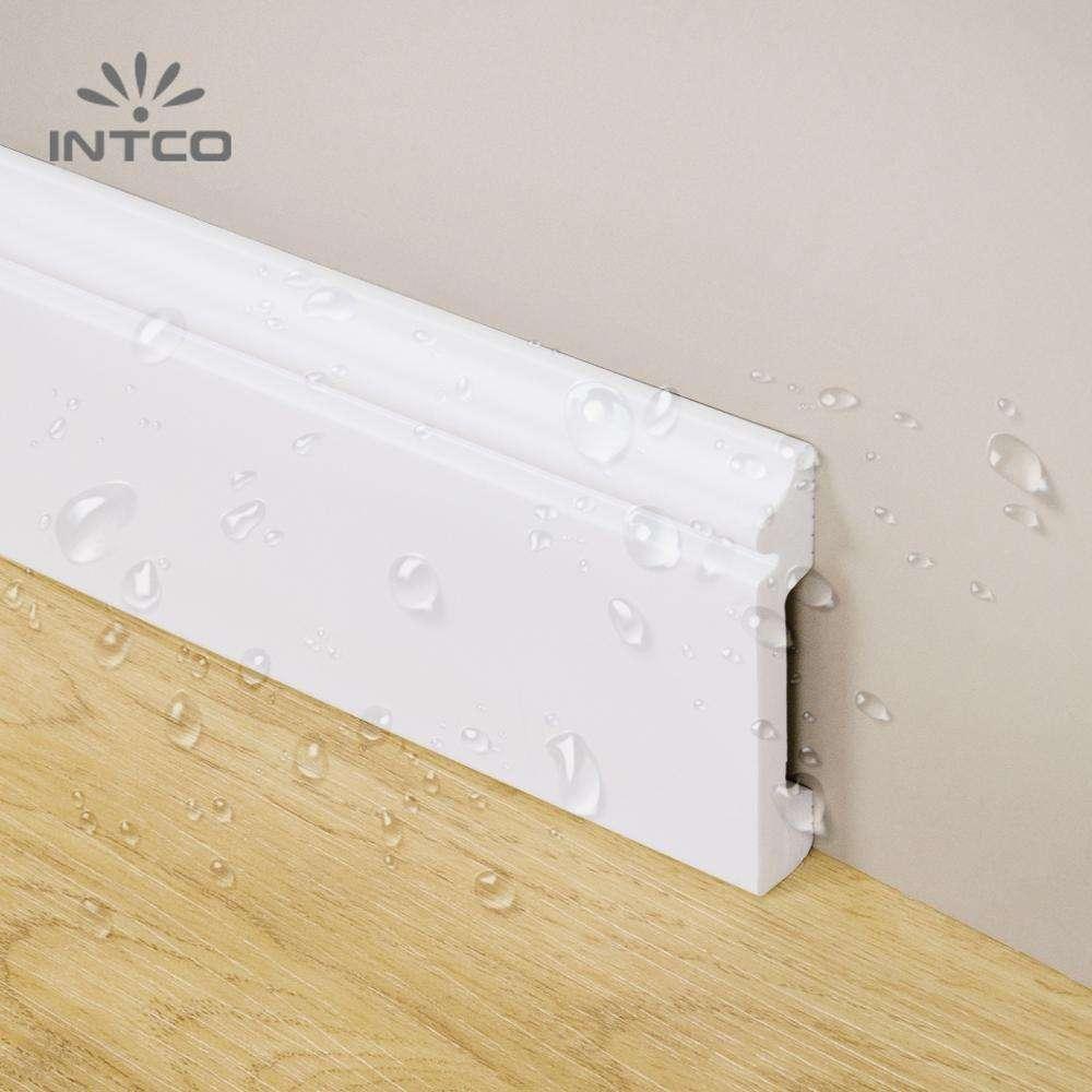 Waterproof White Plastic Baseboard