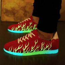 DDD05 Adult 2016 Summer Light Up Adult Shoes Casual Luminous Shoes for Men Luxury Shoes