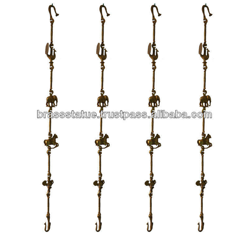 Swing Chain Set of brass metal with statue link in antique finish
