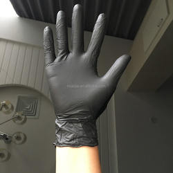 3.5g Black Nitrile Disposable gloves