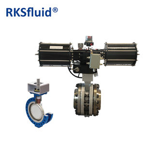 API WRAS TUV certificate Power plant Triple eccentric control adjustable butterfly valve distributor