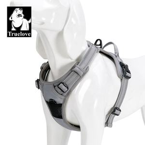 No Pull Adjustable Breathable Mesh Nylon Safety Walking Tactical Training Reflective Pet Dog Harness