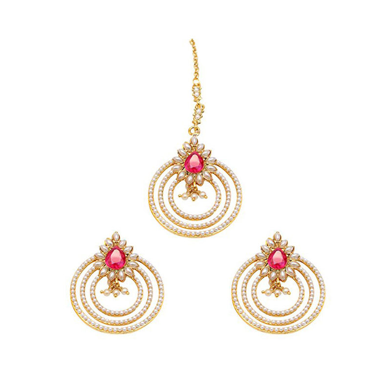 Fashion Style Gold Earrings Designs with Price Pearl Maang Tikka with Earrings Surgical Steel Earrings