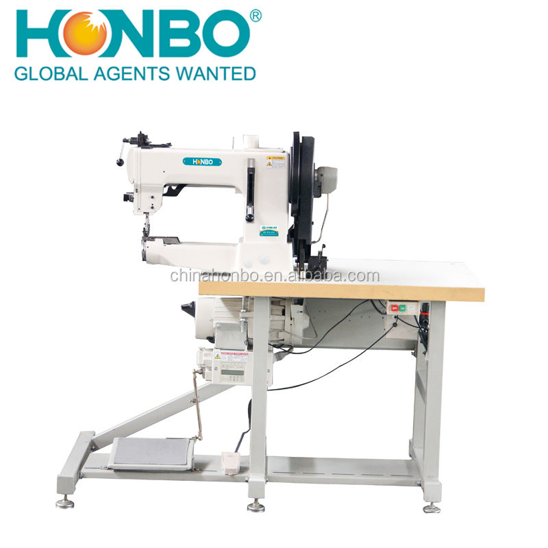 HB-205-370 Factory Direct Complete Set Heavy duty luggage cushion Cylinder Bed lockstitch sewing Machine