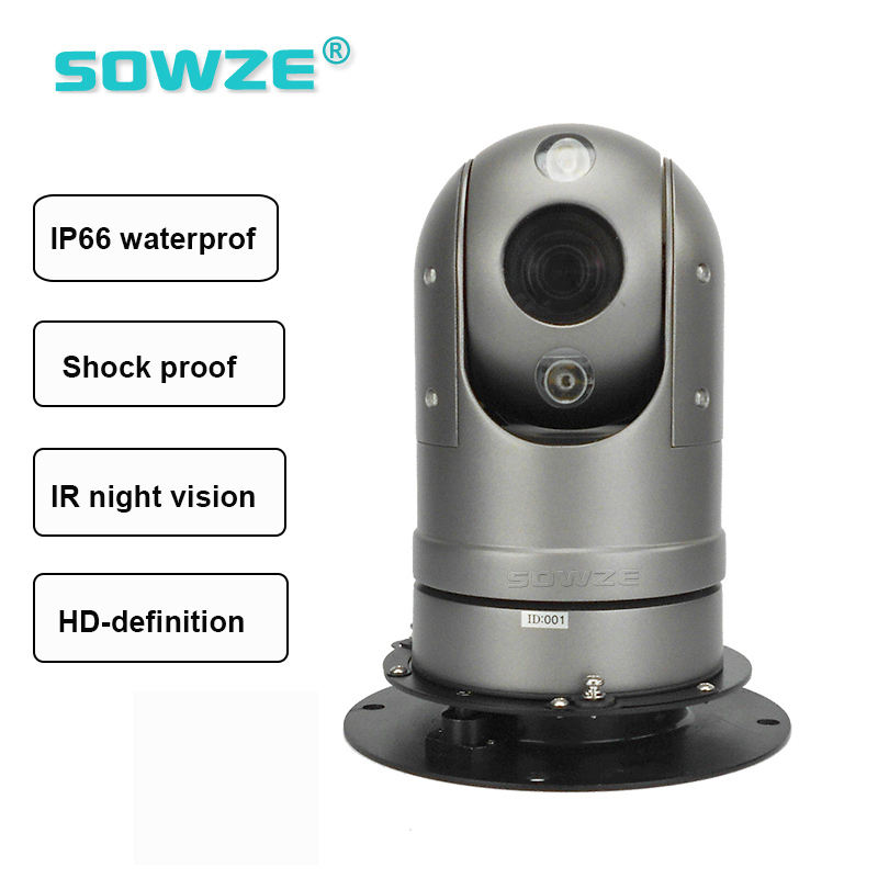 IP66 Rugged Vehicle PTZ Camera with Powerful Magnetic Mount