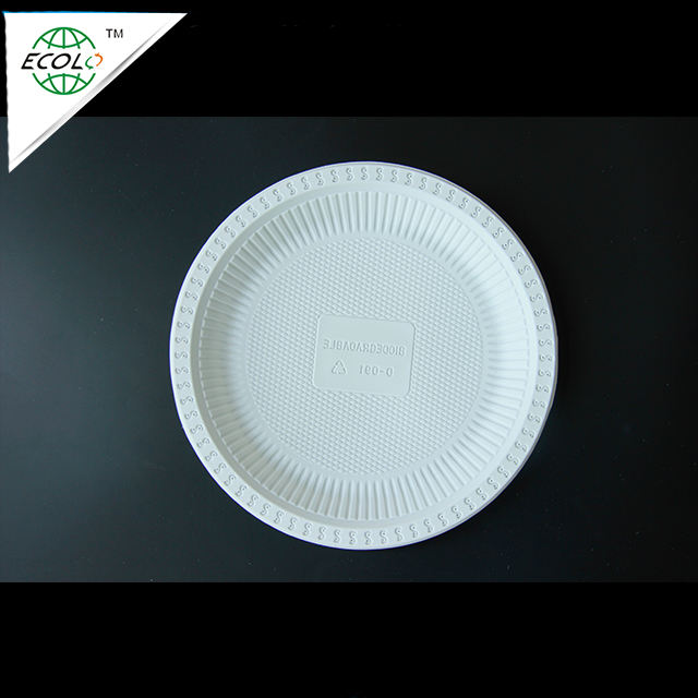 biodegradable corn starch disposable plastic plates/dishes