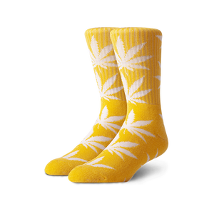 Weed Leaf Printed Cotton custom socks unisex adults