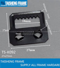 tsk092 pozzi two holes hanger picture frame silf fix saw tooth hanger with two holes photo frame accessories 27*27mm