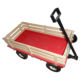 Wooden Garden Tool Kids Toy Beach Cart 4 Wheels Transport Bugy Carts