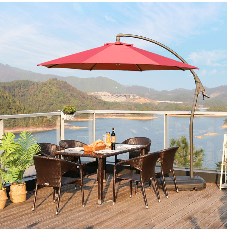New modern beach house patio pool outdoor furniture garden rattan table set french rattan chair rattan / wicker furniture