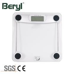 China Supply Household portable exquisite digital bathroom tempered glass electronic body Weighing Scale