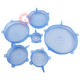 Stock BPA Free Fda Reusable Silicone Food Covers for bowl Food Grade Flexible Clear 6 Pack Silicone Stretch Lids