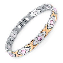RainSo Health Care Product Loss Weight Bio Energy Stainless Steel Crystal Bracelet