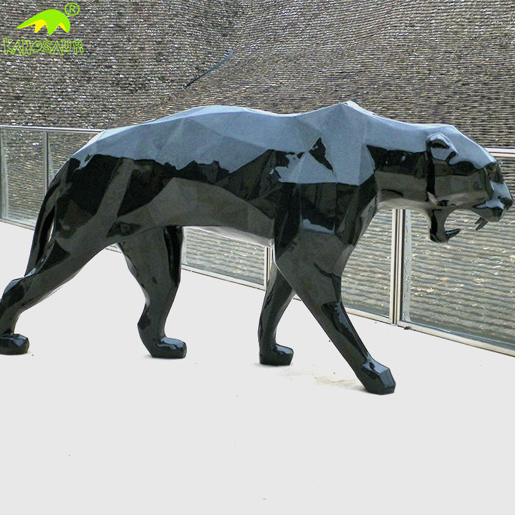 KANOSAUR2088 Customized Handmade Life Size Black Panther Statue